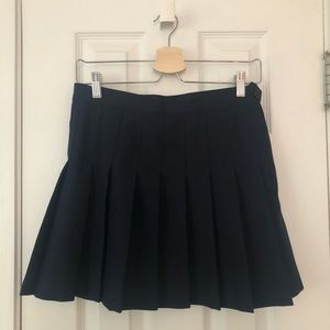 American Apparel navy blue tennis skirt